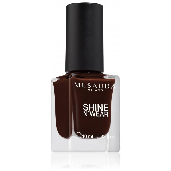 Long-lasting shine nail polish Red Black SHINE N'WEAR FULL 201 10ml
