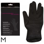 COCHE Par de guantes de látex negros 1 par M