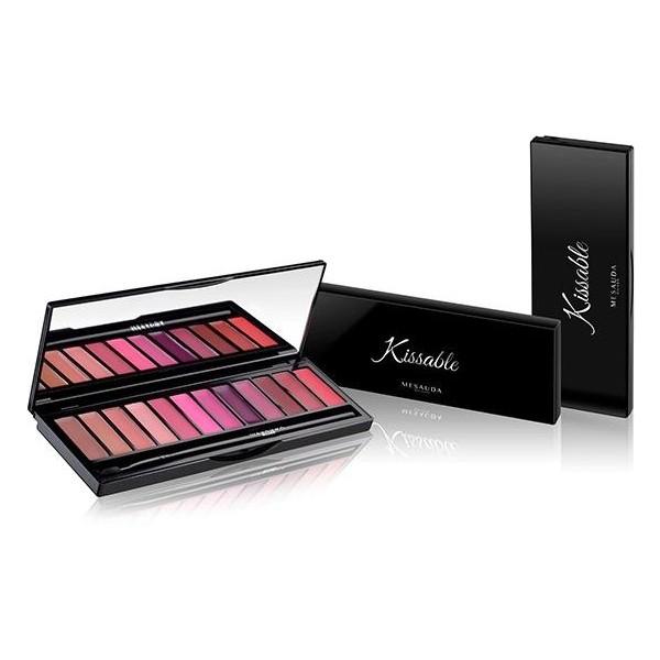KISSABLE Palette de rouges à lèvres 12x 0,8 g