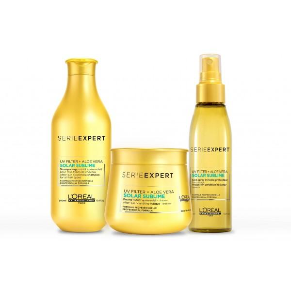 Pack Expert Series Solar Sublime Shampoo Maschera e Spray Protector