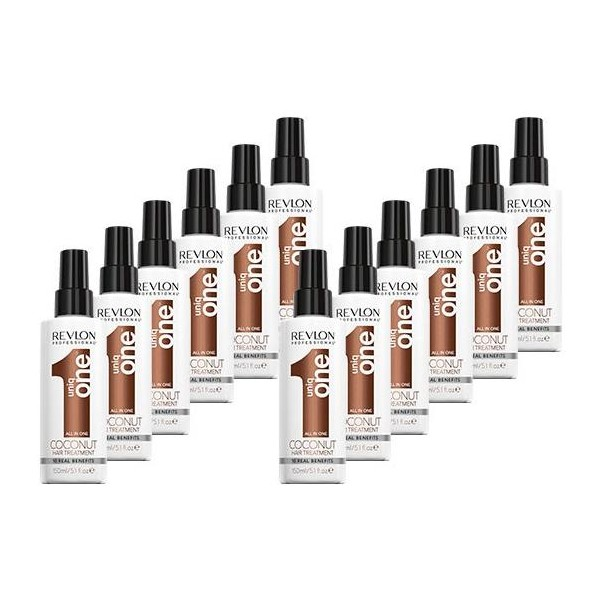 Pack 12 Sprays Uniq One Revlon Coconut 150 ML