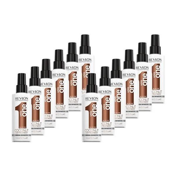 Pack 12 Sprays Uniq one revlon Coco 150 ML