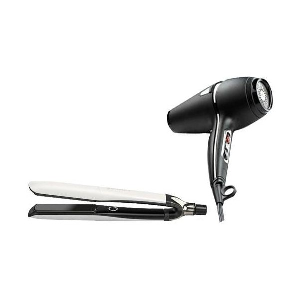Pack ghd Platinum+® blanc et Sèche-cheveux ghd Air