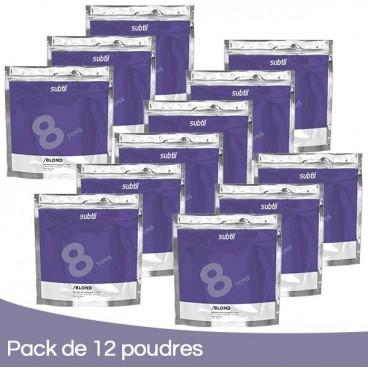Pack 12 Poudres Subtil Blond 500 Grs