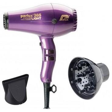 Pack sèche cheveux Parlux 385I Violet + Diffuseur