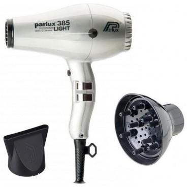 Pack asciugacapelli Parlux 385I argento + diffusore
