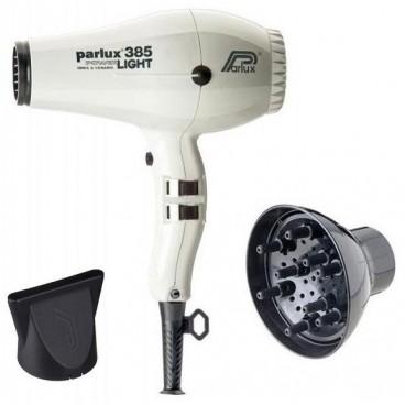 Pack asciugacapelli Parlux 385I bianco + diffusore