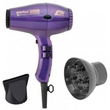 Pack Séchoir à Cheveux Parlux compact Ionic 3500 Violet + Diffuseur