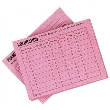 Pack of 50 Pink Data Sheets