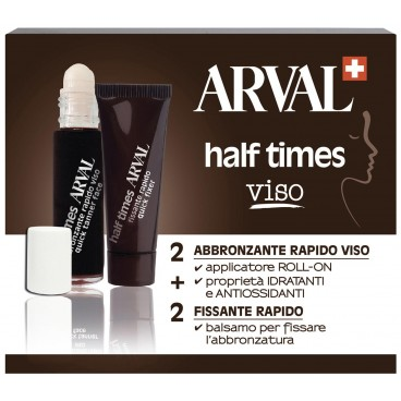 Image of Half Times Face Super Tanning Accelerator 5 fiale + 5 tubi - Arval