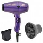 Paquete de pelo compacto Parlux 3500 Ionic Difusor violeta +