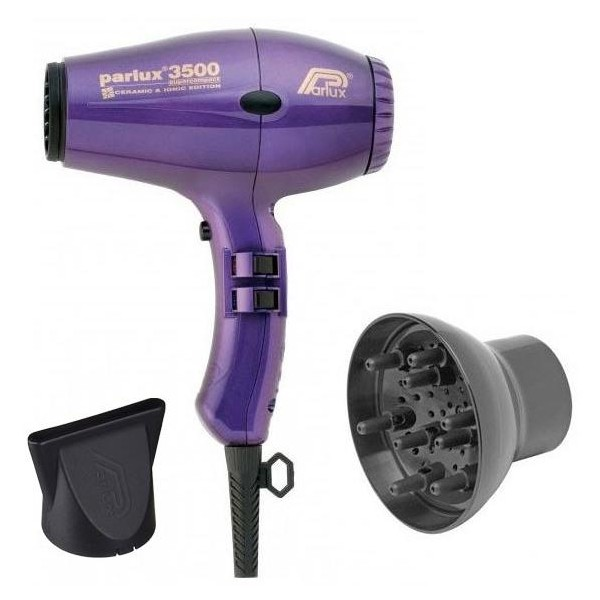 Pack Hair dryer Parlux compact Ionic 3500 Purple + Diffuser