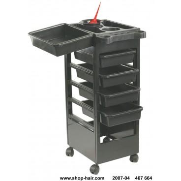 Table Service Coiffure Baky Noire 5 tiroirs