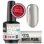 Mini Vernis Semi-Permanent Hybrid Shine Mollon Pro 8ML n°273 - White pearl