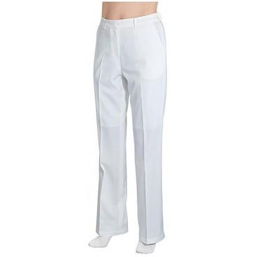 Pantalon Esthétique Blanc Taille S
