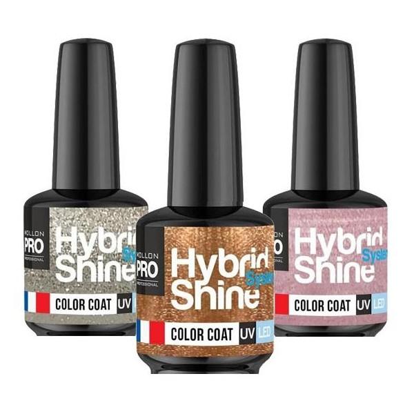 Mini Lack Semi-Permanent Hybrid Shine Mollon Pro 8ml Weihnachtskollektion (Nach Farbe)