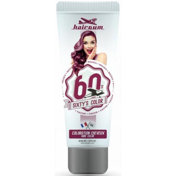 Crème colorante Sixty's Color - Magenta HAIRGUM 60ML