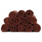 Docena de toallas Bob Tuo en esponja marrón