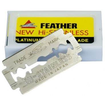 Paquet 10 Lames Rasoir feather