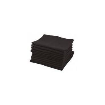Serviettes Sibel Coton Noires X 12 pièces