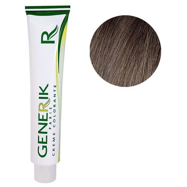 Génik Coloration Sans amoniauqe N ° 6.15 Dark Blonde Ash Mahogany 100 ML