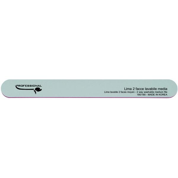 Lima blanca lavable de doble cara - granos medianos 180/180