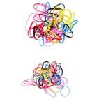 Elastiques caoutchouc multi coloris petit format x 40 pièces