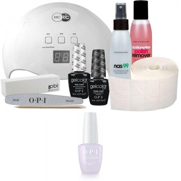 Confezione semipermanente OPI + lampada da 48 Watt Vernice pastello gel colorato OPI - Lo lilla? 15 ml
