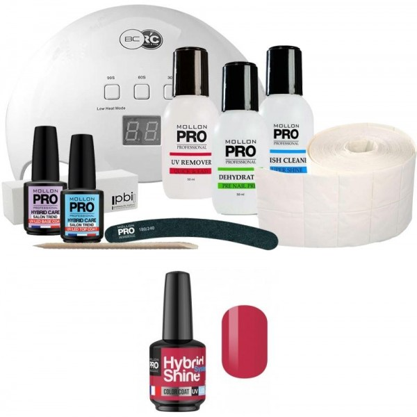 Pack Mollon + Lampe 48 Watt Mini Semi-Permanent Lack Hybrid Shine Mollon Pro 8ml Tutti Frutti 2/129