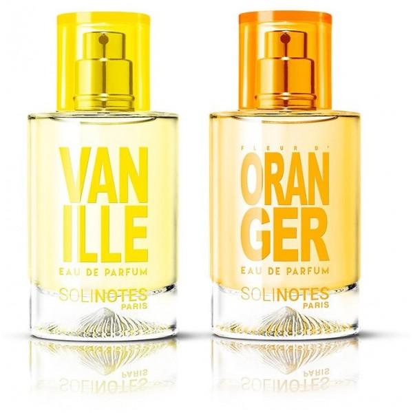 Mix Poétique : eau de parfum Fleur d'Oranger 50ml et eau de parfum Vanille 50ml