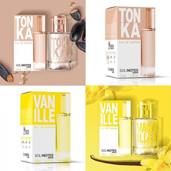 Mix Merveilleux : eau de parfum Tonka 50ml et eau de parfum Vanille 50ml