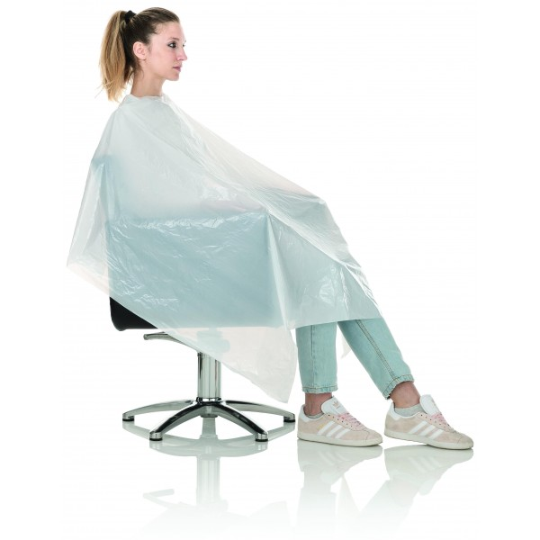 20 peignoirs / capes coiffure extra larges jetables 110*130cm
