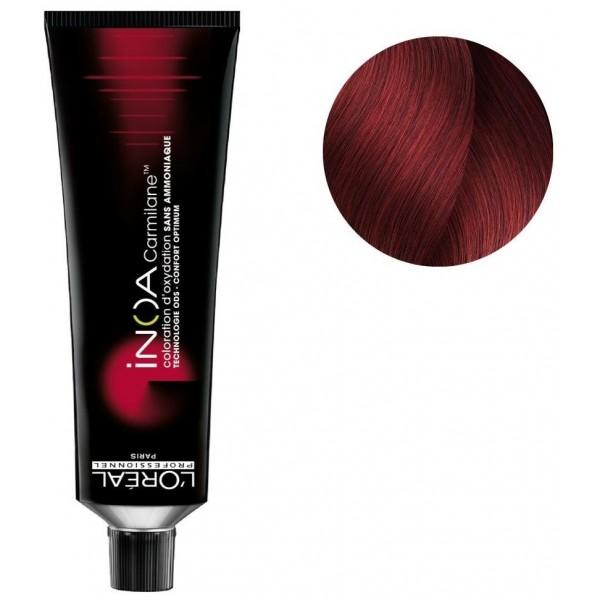 Colorear Inoa Carmilane n ° 6.66 rubio rojo intenso 60ML
