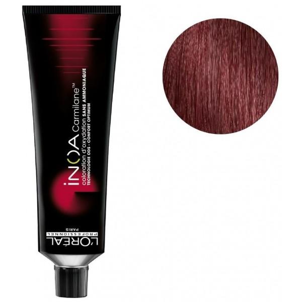 Colorear Inoa Carmilane n ° 5.62 marrón claro iridiscente rojo 60ML