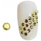Diamantes de imitación uñas amarillas SS5 X 20 148001