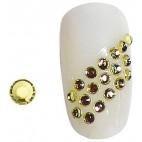Rhinestones Yellow Nails SS5 X 20 148001
