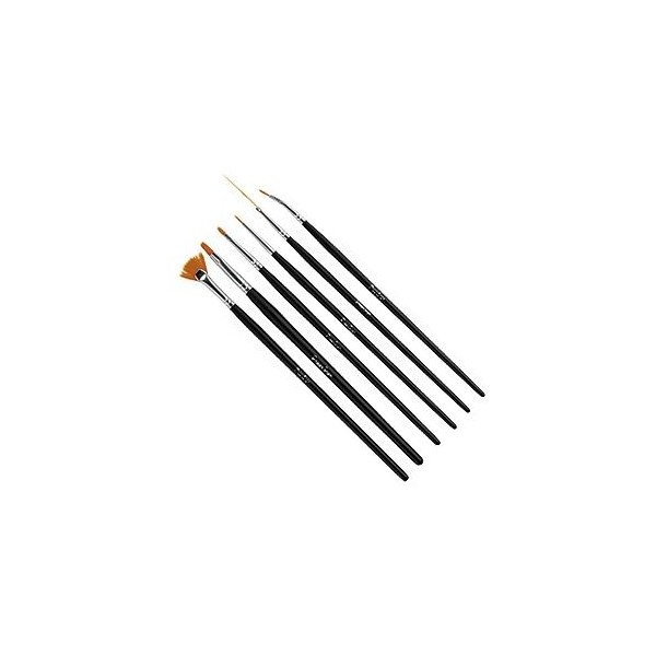 Set 6 Brushes Nail Art Peggy Sage141060