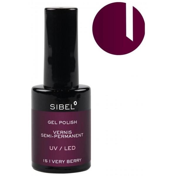 Vernis semi-permanent n°15 Very Berry Sibel 14ML