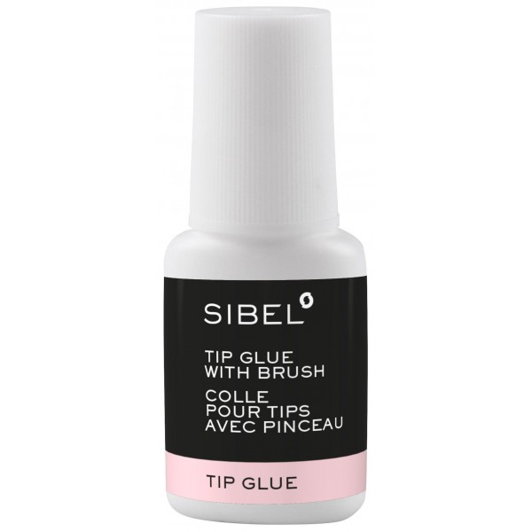 Colle faux ongles / tips avec pinceau Sibel 8g