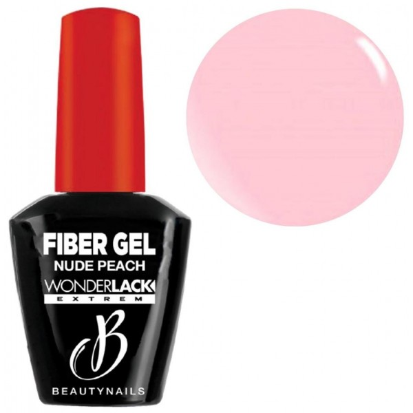 Base & builder nude peach Fiber Gel Beauty Nails 12ML