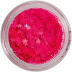 Paillettes pour Ongles Néon Pink Star 149527