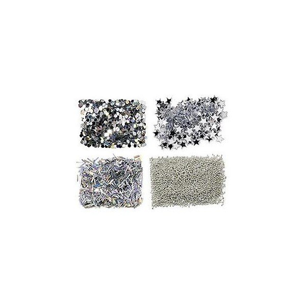 Mini Kit Nail Pailletten Silber 149311