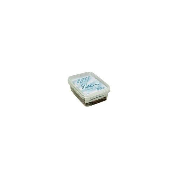 Box 500 grs Guiches negro pinzas de 70 mm