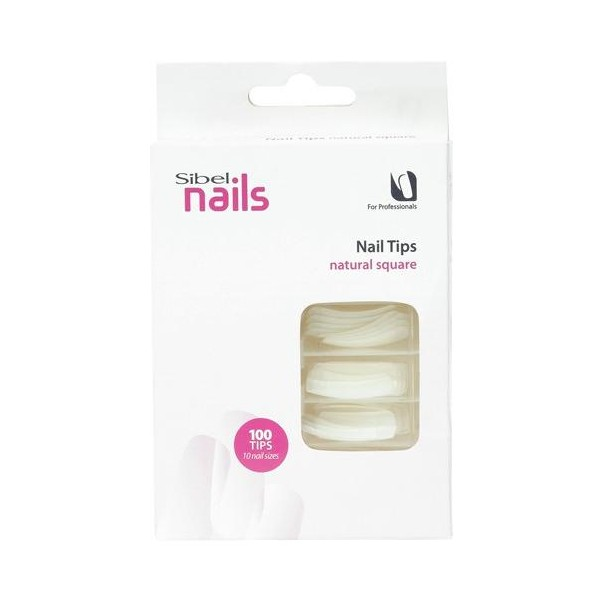 Scatola da 100 Nail Tips Natural Square