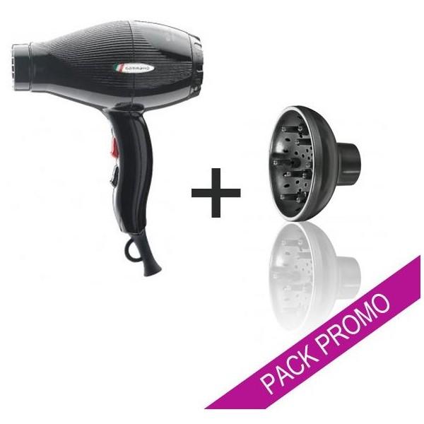 Pack asciugacapelli Gammapiù ETC nero + diffusore