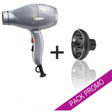 Image of Pack asciugacapelli Gammapiù ETC argento + diffusore