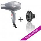 Pack asciugacapelli Gammapiù ETC argento + diffusore