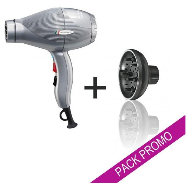 Pack Hair Dryer Gammapiu ETC Silver + Diffuser