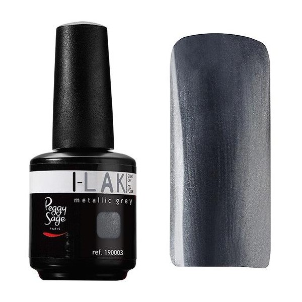 Gel UV I-Lak Soak off Peggy Sage metallic grey 190003
