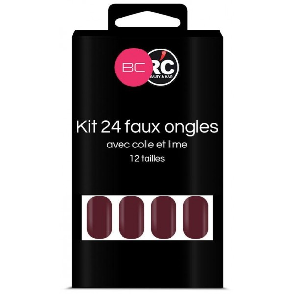 Boîte de 24 tips faux-ongles Winterbloom Beauty Coiffure